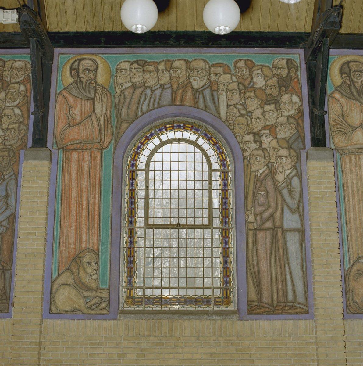 File interieur muurschildering van evangelist marcus for Interieur leiden