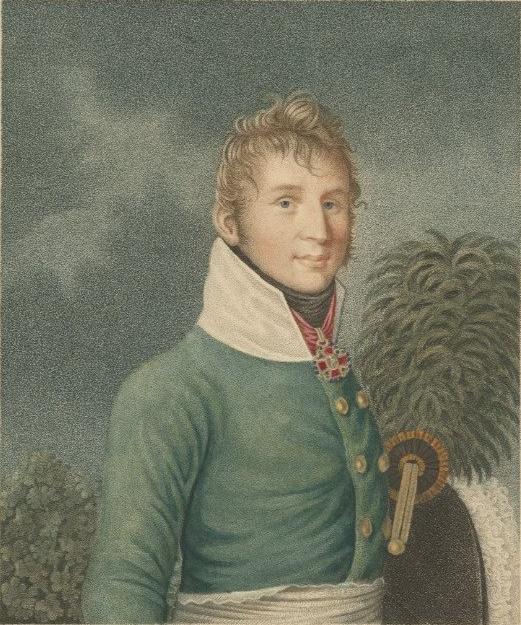 гравюра работы Л. Шлеммера по оригиналу И. Л. Кройля, 1808 г.