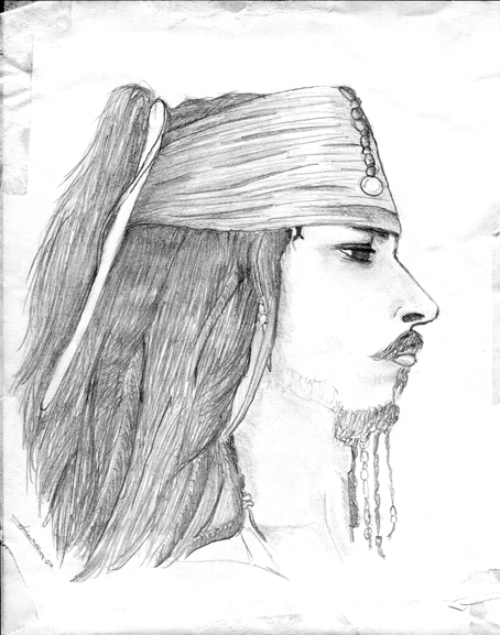 Jack Sparrow's head - drawing