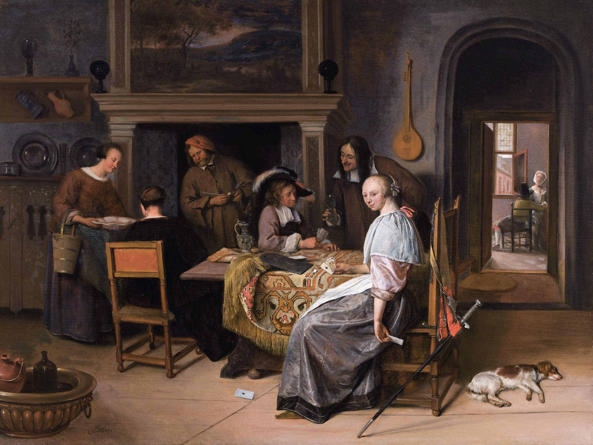 FileJan Steen The Card Players In An Interiorjpg Wikimedia Commons - Who painted the card players