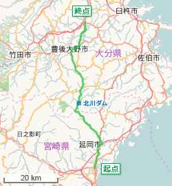 Japan National Route 326 (OpenStreetMap).png