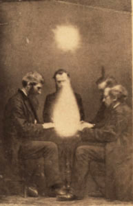 Séance attempt to communicate with spirits