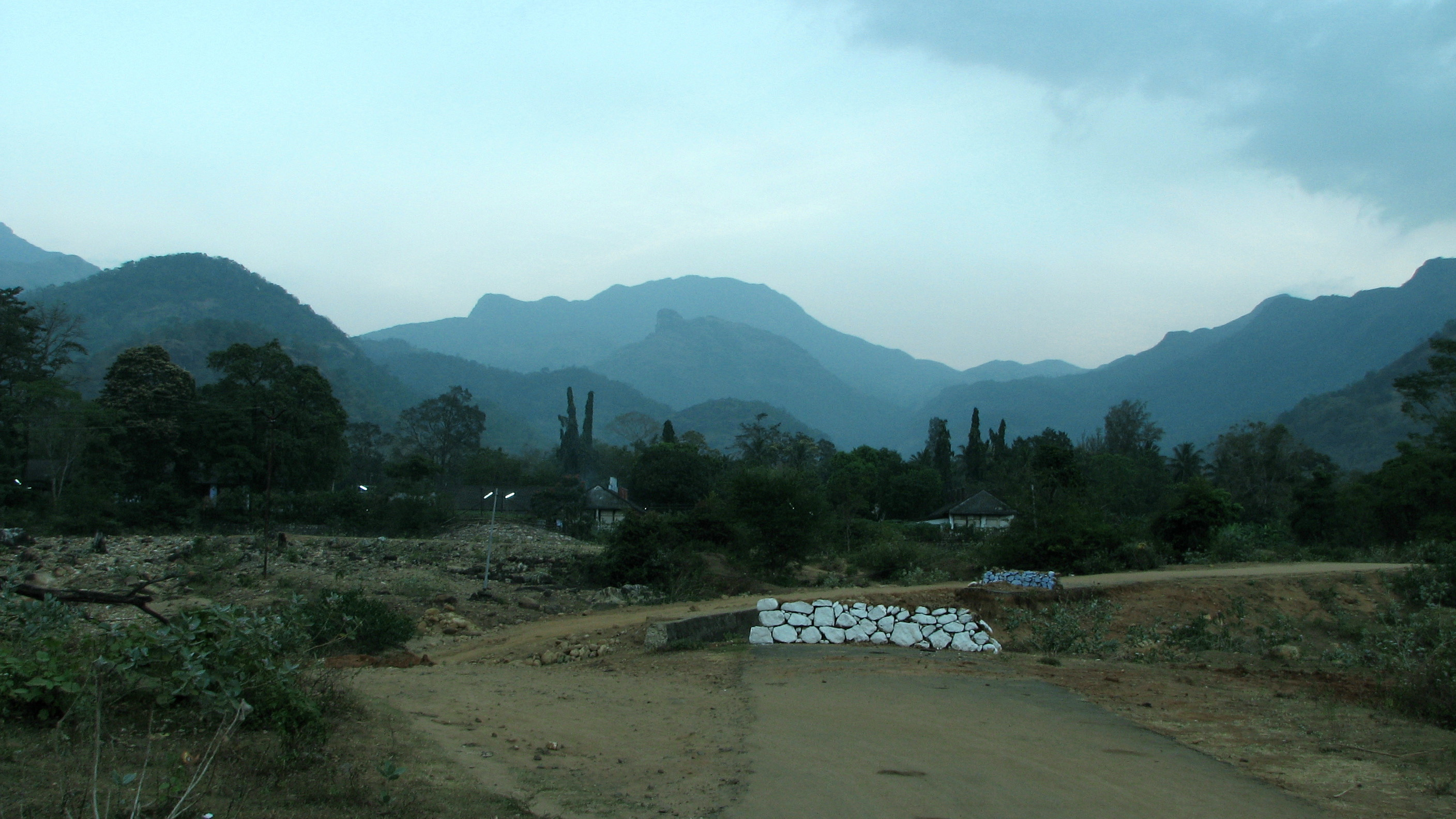 View of the Western Ghats at Keeriparai, Kanyakumari District, in Tamil Nadu, near the southern end of the range