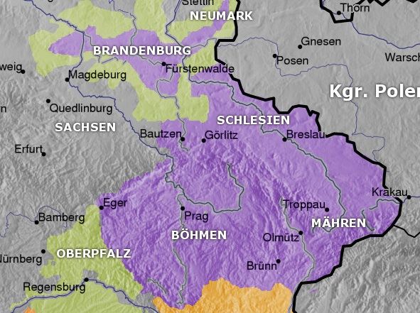 Atlas of the czech republic wikimedia commons kingdom of bohemia in 14th century germang gumiabroncs Images