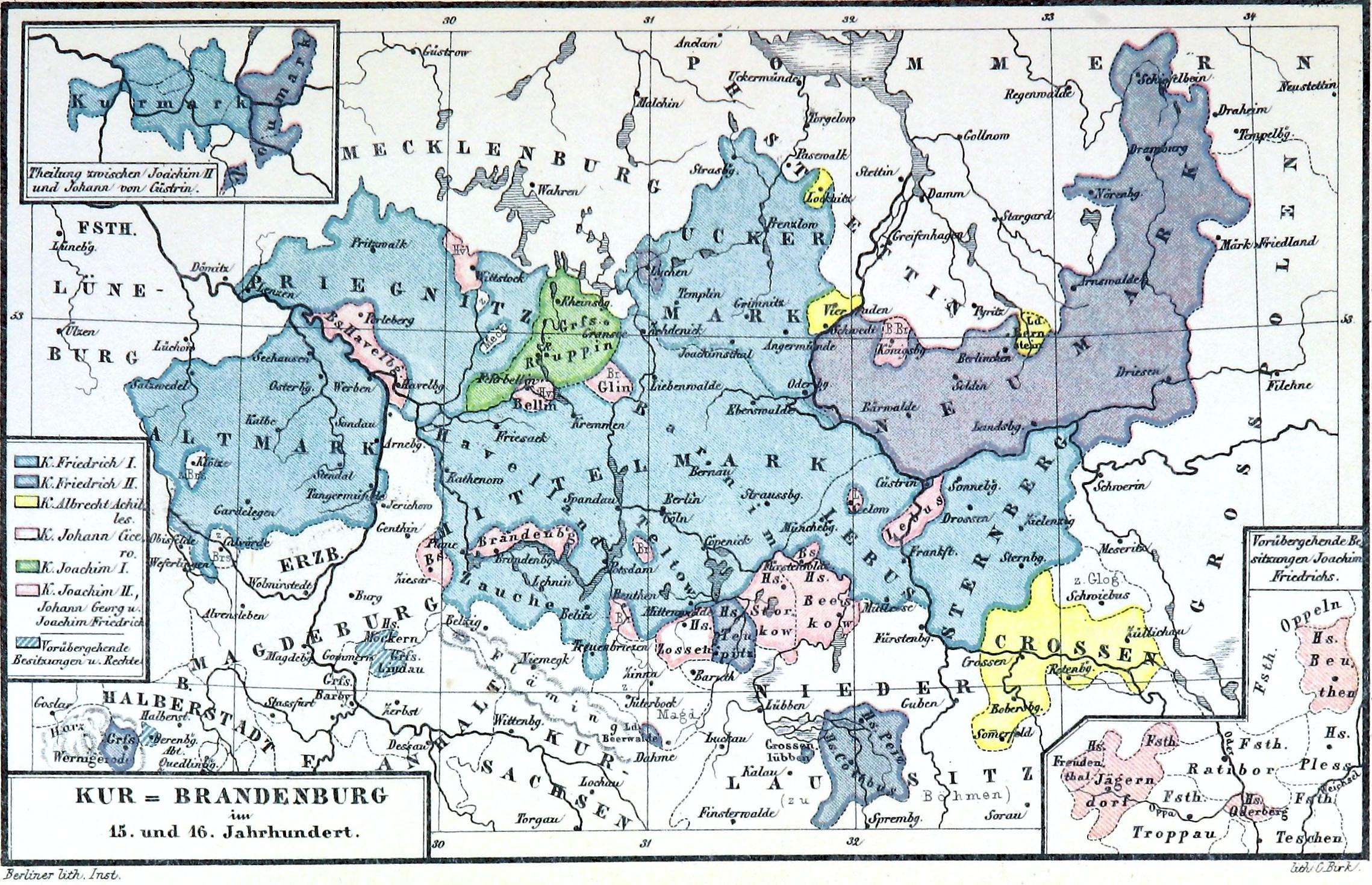 Karte der Mark Brandenburg