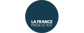 Logotype officiel de la suite « La France passe le test »