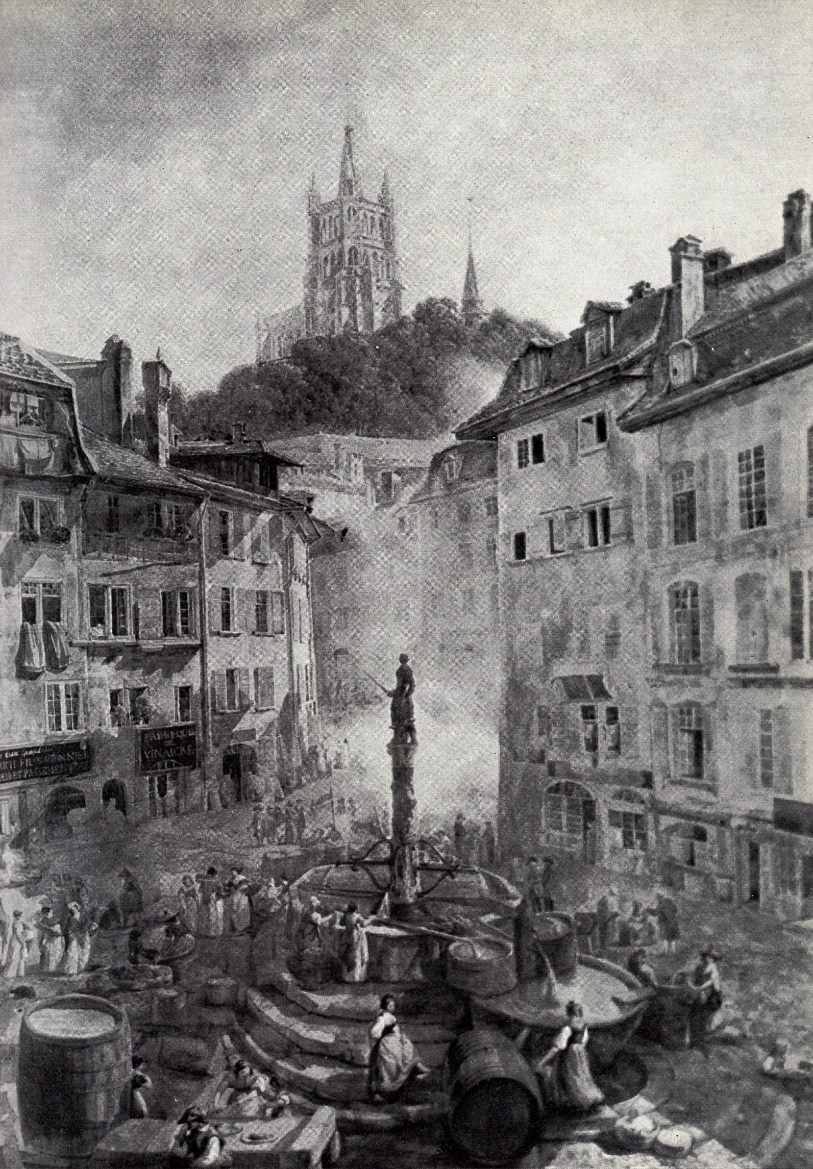 File Lausanne Place de la Palud 1800 Wikimedia mons