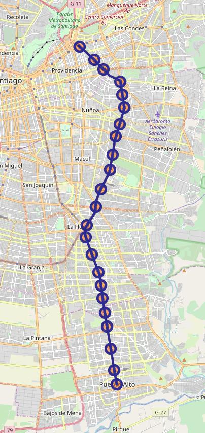 Mercedes San Jose >> Línea 4 del Metro de Santiago - Wikipedia, la enciclopedia ...