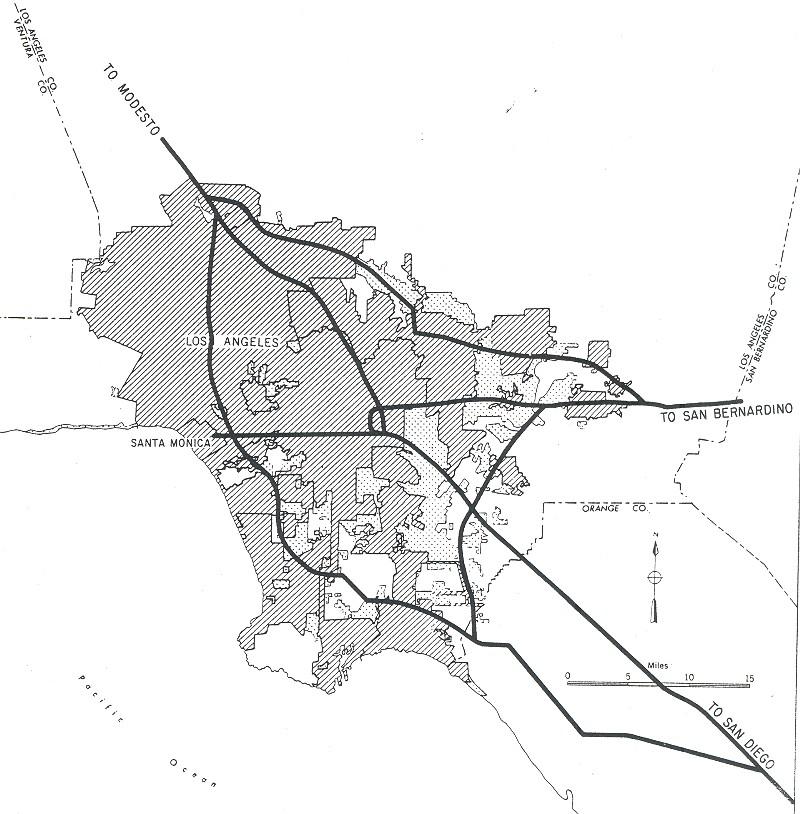 Map Of California Interstates.File Los Angeles California 1955 Yellow Book Jpg Wikimedia Commons