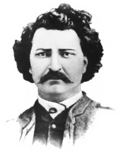 Louis Riel, after a carte de visite from 1884.