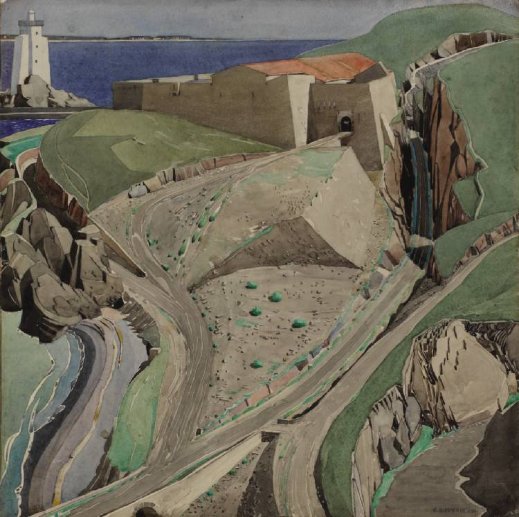 """The Fort"" (1925) par Charles Rennie Mackintosh au Hunterian Museum & art gallery de Glasgow"