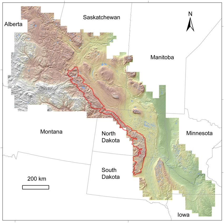 Map Missouri To Canada File:Map of the Prairie Pothole Region of the United States and