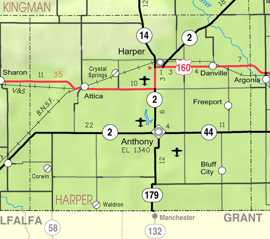 Waldron Kansas Wikipedia - Ks map