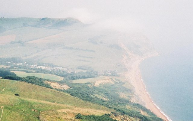 Misty view from the south coast's highest point - geograph.org.uk - 506465