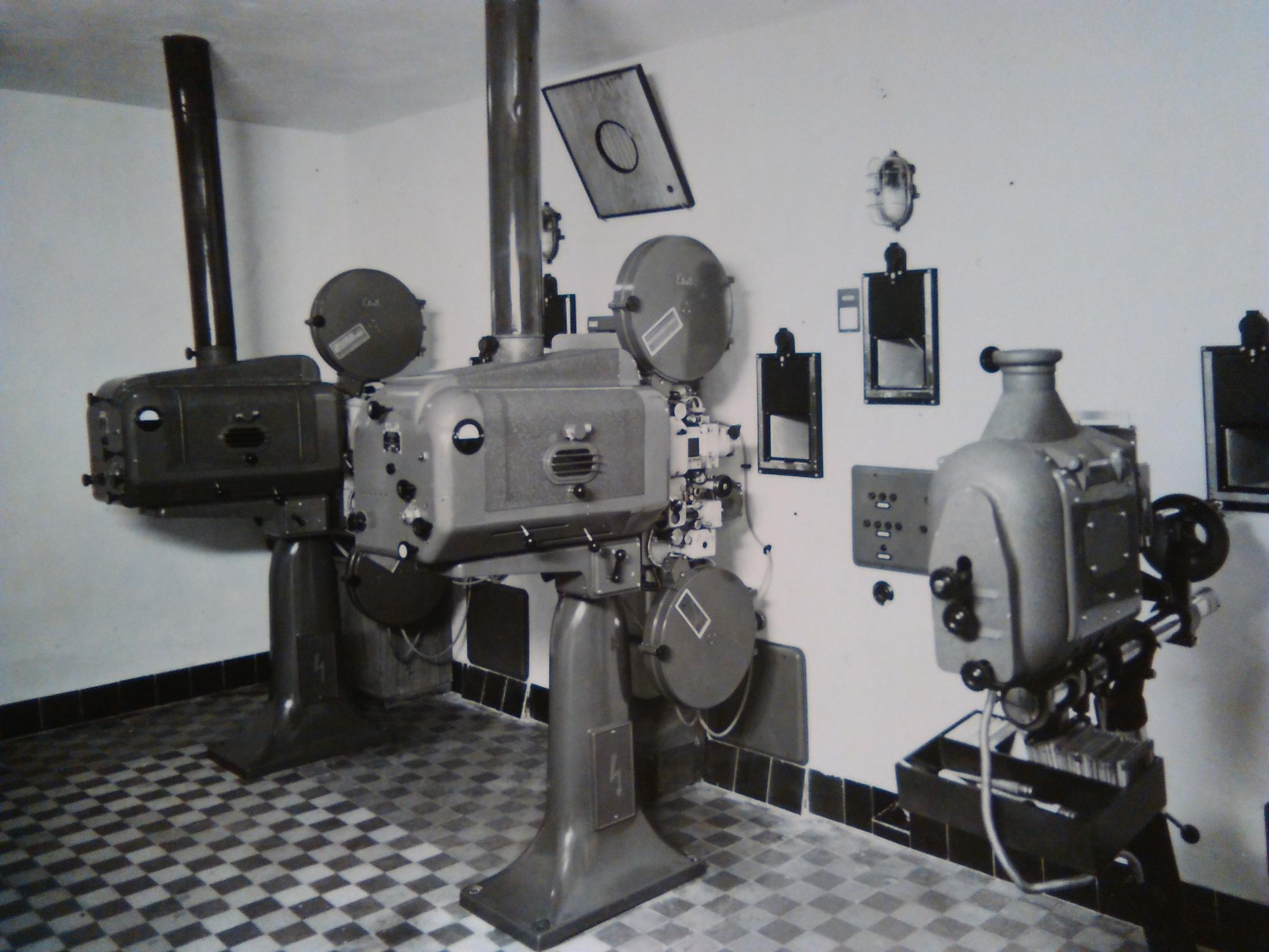 File:Movie projectors in Kino Strojár, Martin jpg