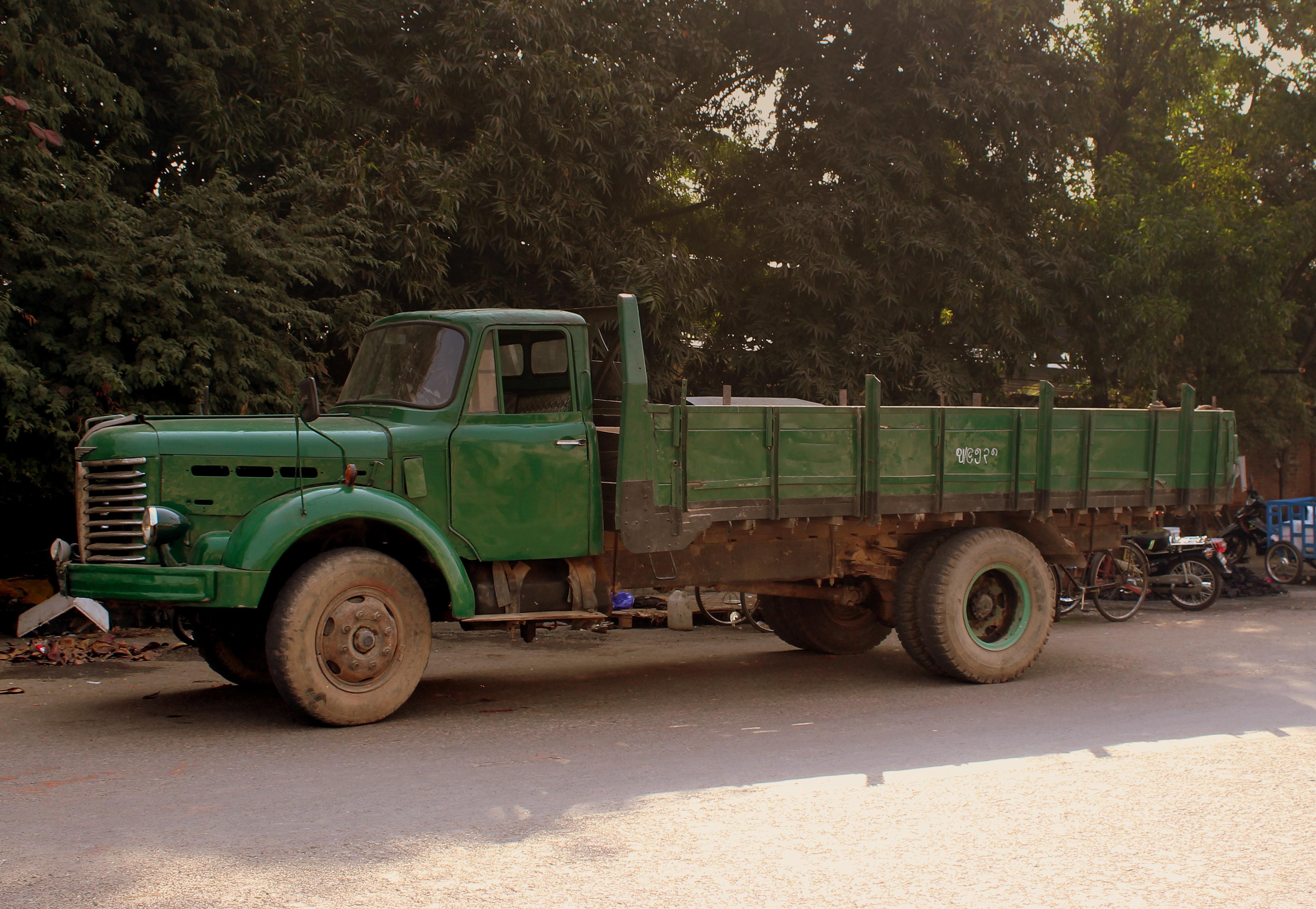 File Old Hino Truck At Mandalay Railway Station Myanmar
