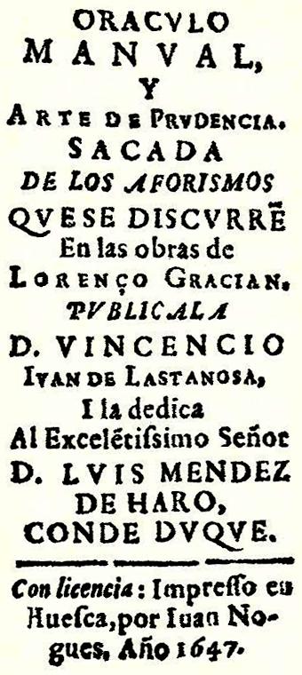 Oráculo Manual Y Arte De Prudencia Wikipedia La Enciclopedia Libre