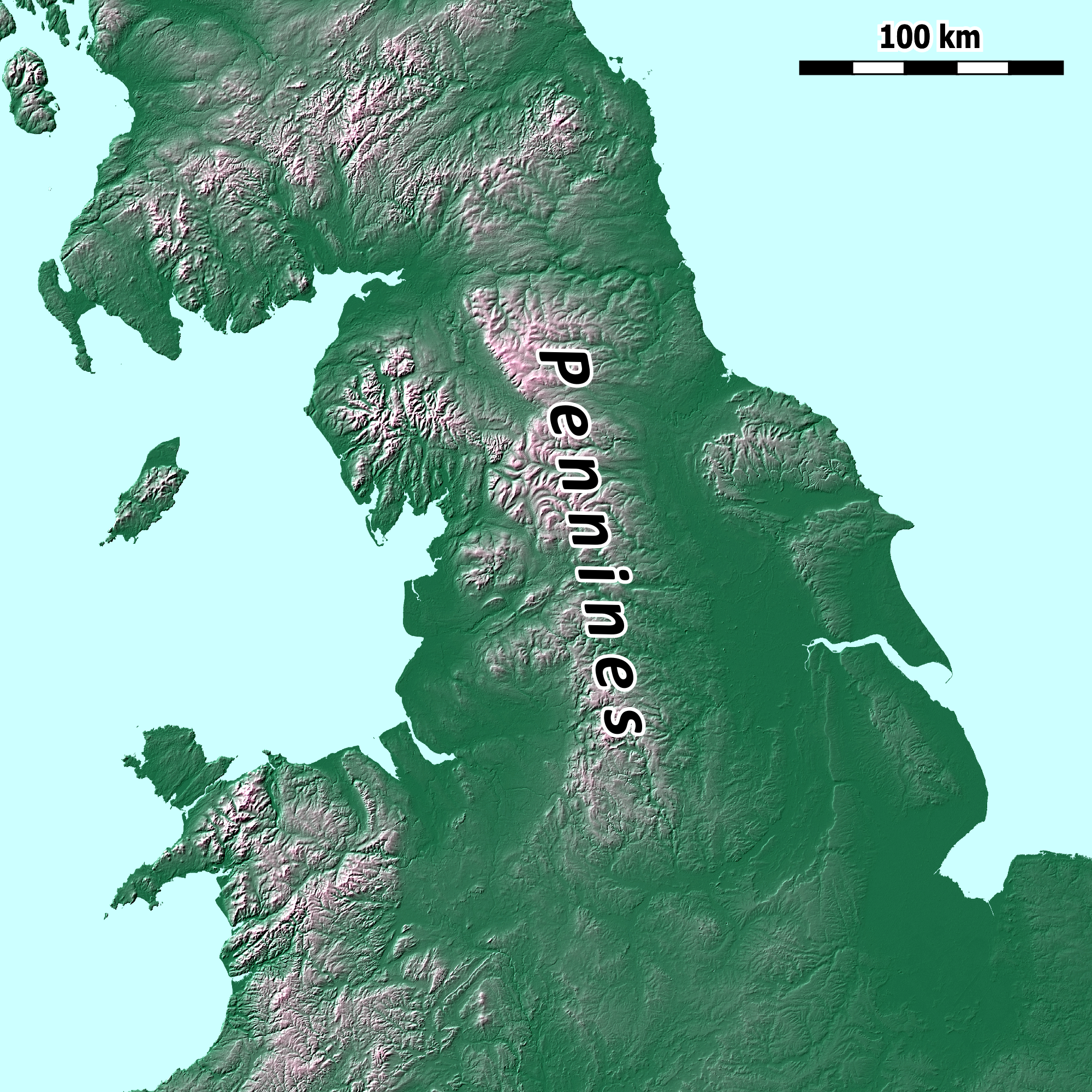 Map Of Uk Hills And Mountains.Pennines Wikipedia