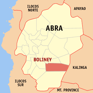 Mapa na Abra ya nanengneng so location na Boliney