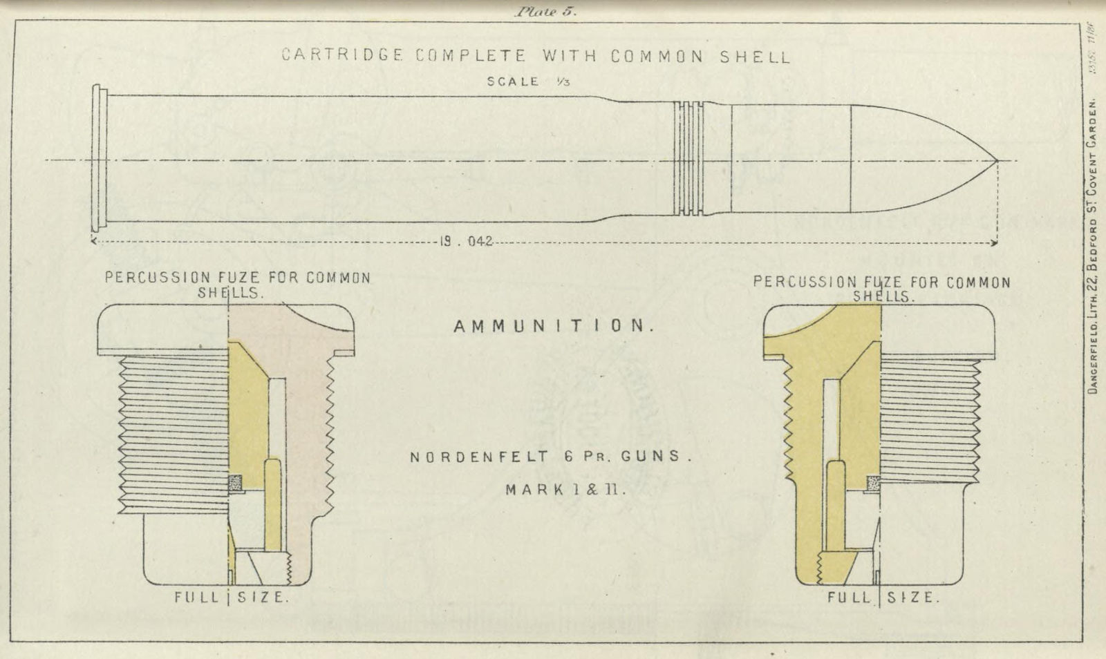 File:QF 6 pounder Nordenfelt common shell fixed round and