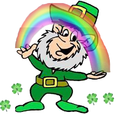 A cartoon leprechaun