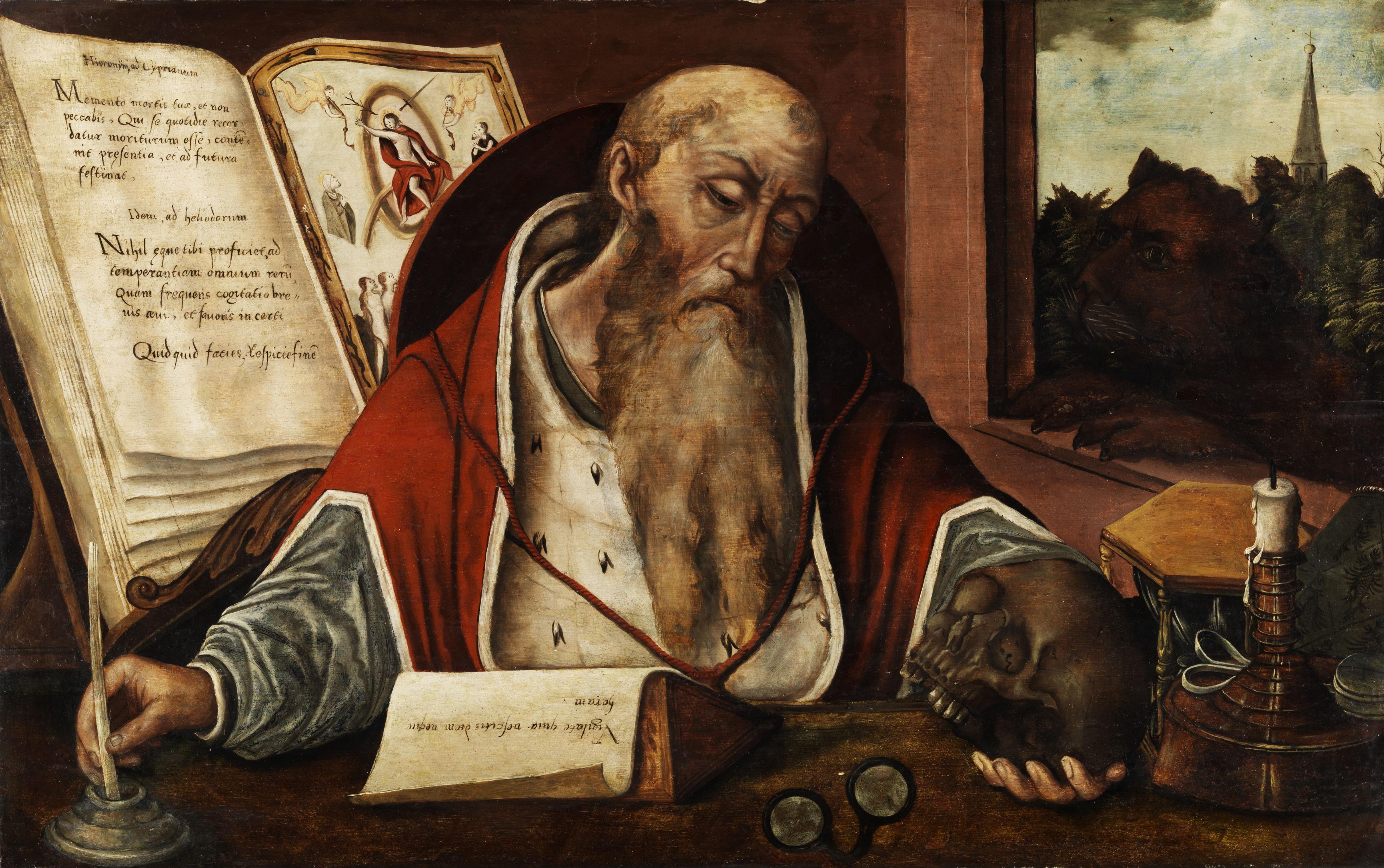 File:Saint Hieronymus (follower of Joos van Cleve).jpg - Wikimedia Commons
