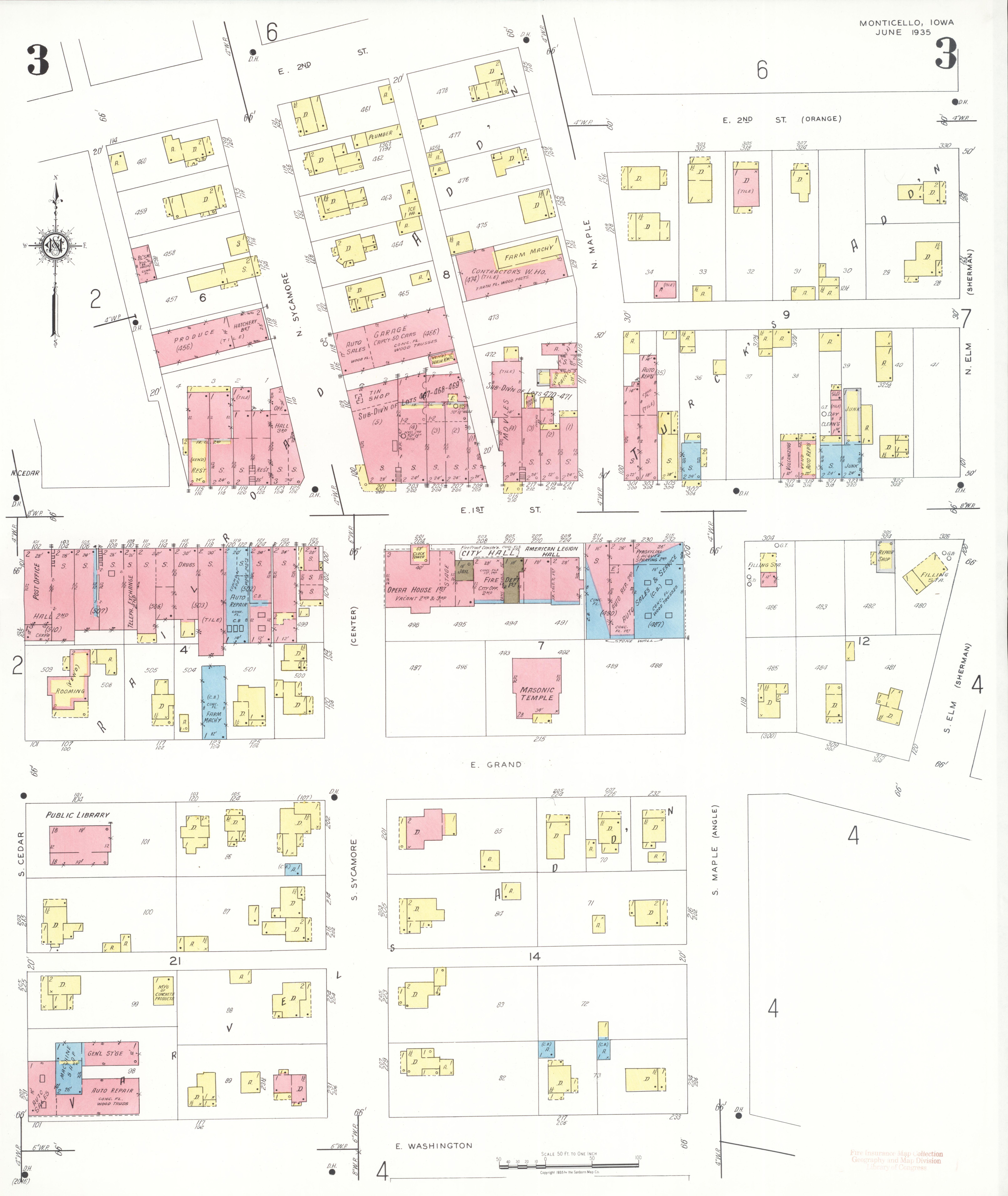 File Sanborn Fire Insurance Map From Monticello Jones County Iowa