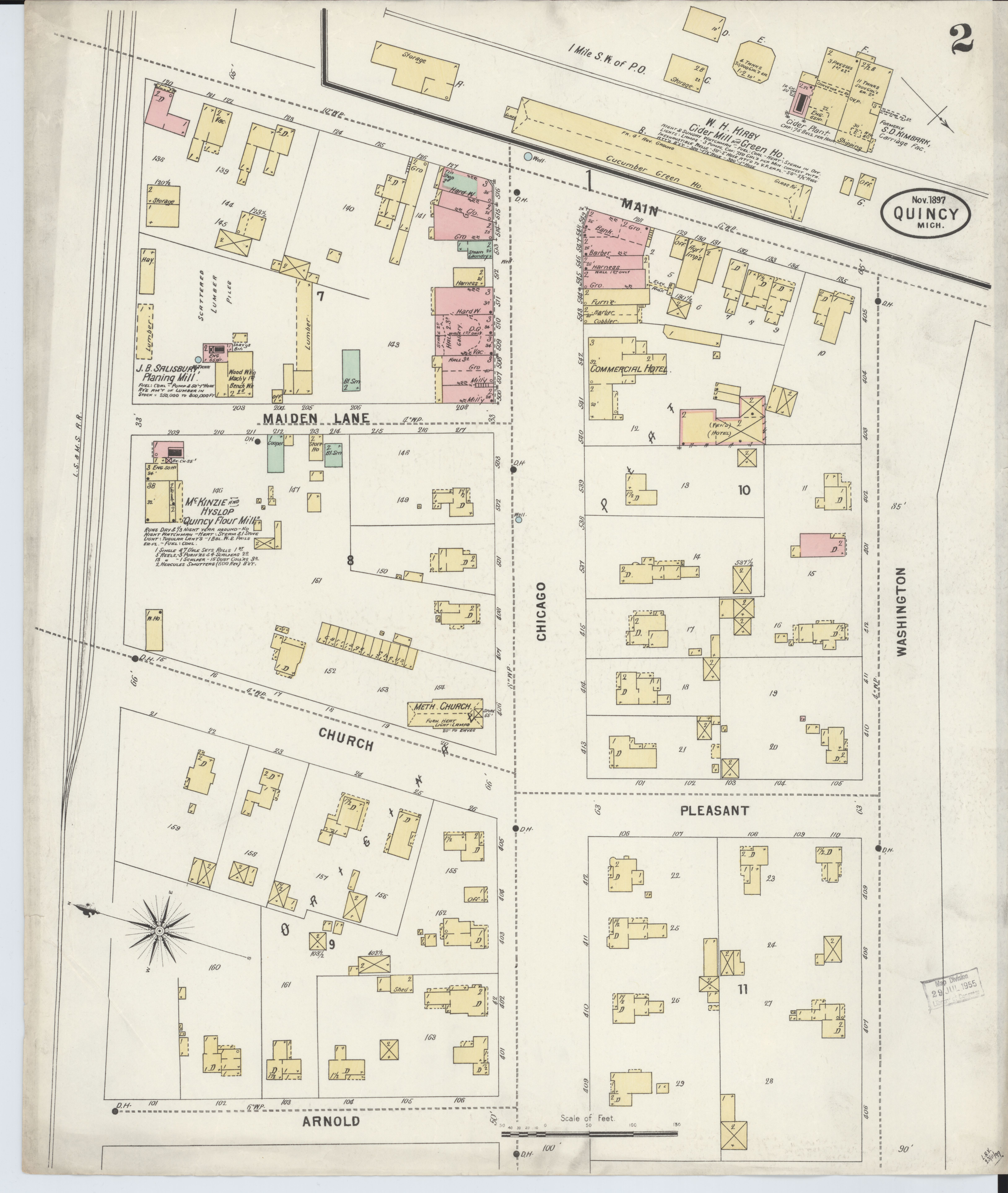 File Sanborn Fire Insurance Map From Quincy Branch County Michigan
