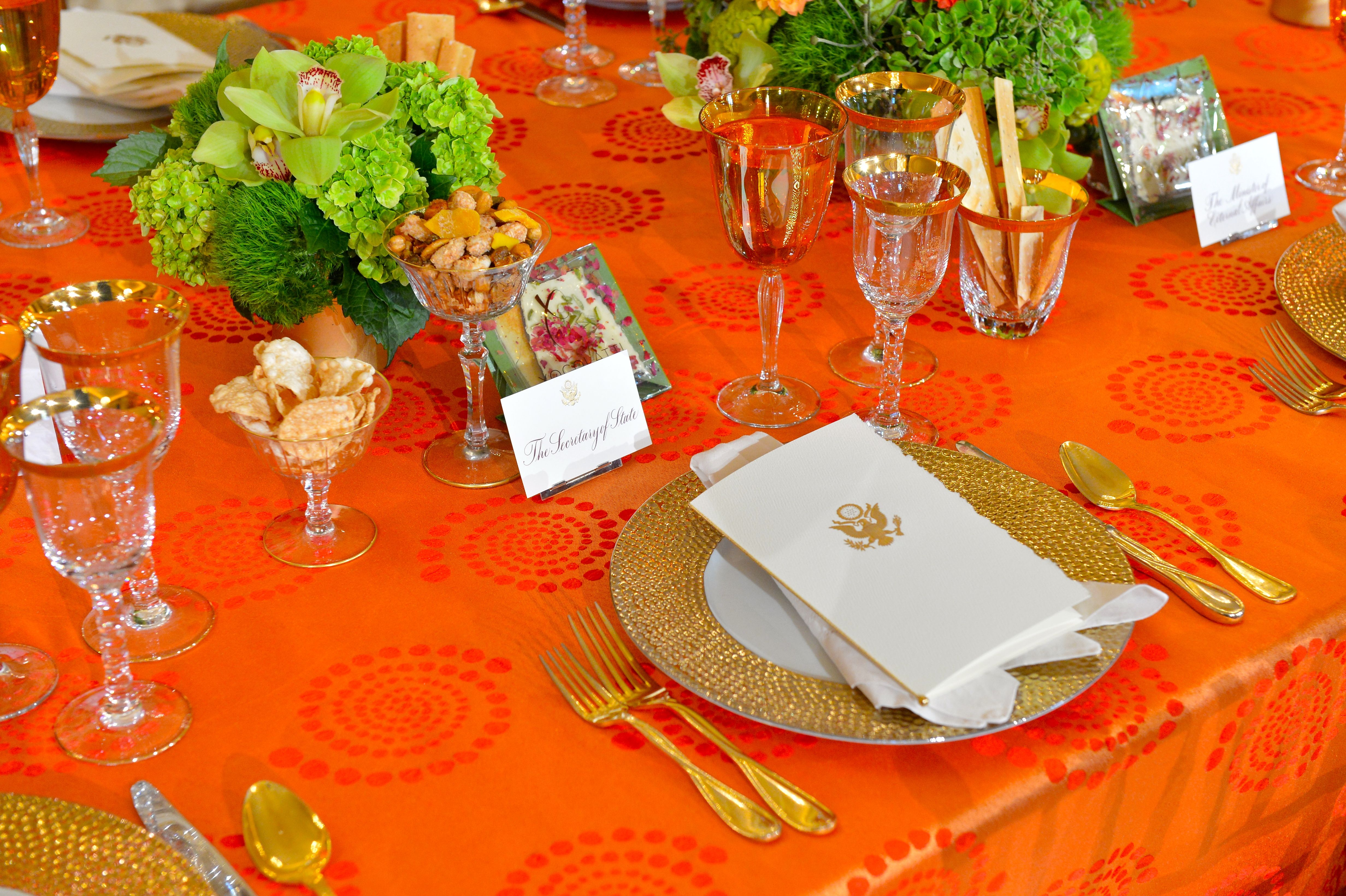 FileSecretary Kerryu0027s Table Setting Is Shown at the Luncheon for Indian Prime Minister Modi & File:Secretary Kerryu0027s Table Setting Is Shown at the Luncheon for ...