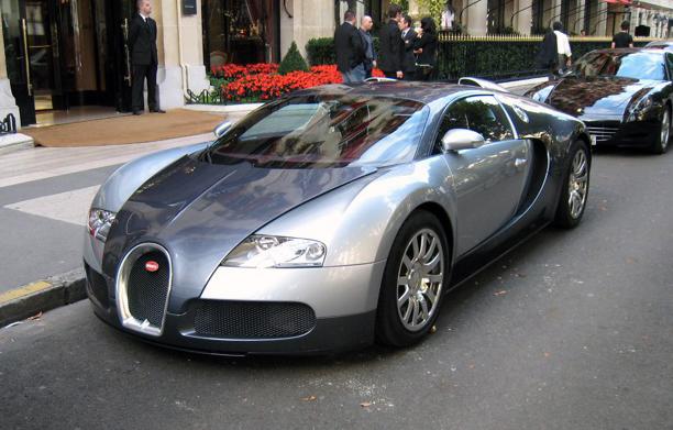File Silver Bugatti Veyron Front Left Corner Copped Jpg