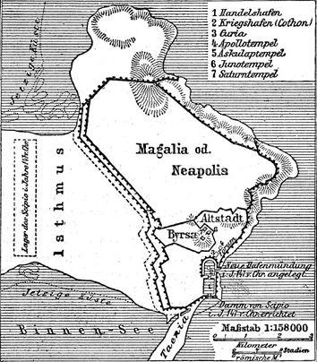 План Карфагена незадолго до разрушения