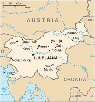 slovenija karta File:Slovenia CIA WFB Map.png   Wikimedia Commons slovenija karta