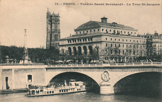 The Théâtre Sarah Bernhardt (now the Théâtre de la Ville)(c. 1905)