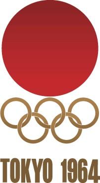 Logo der Olympischen Sommerspiele 1964 Tokyo IOC, Public domain, via Wikimedia Commons