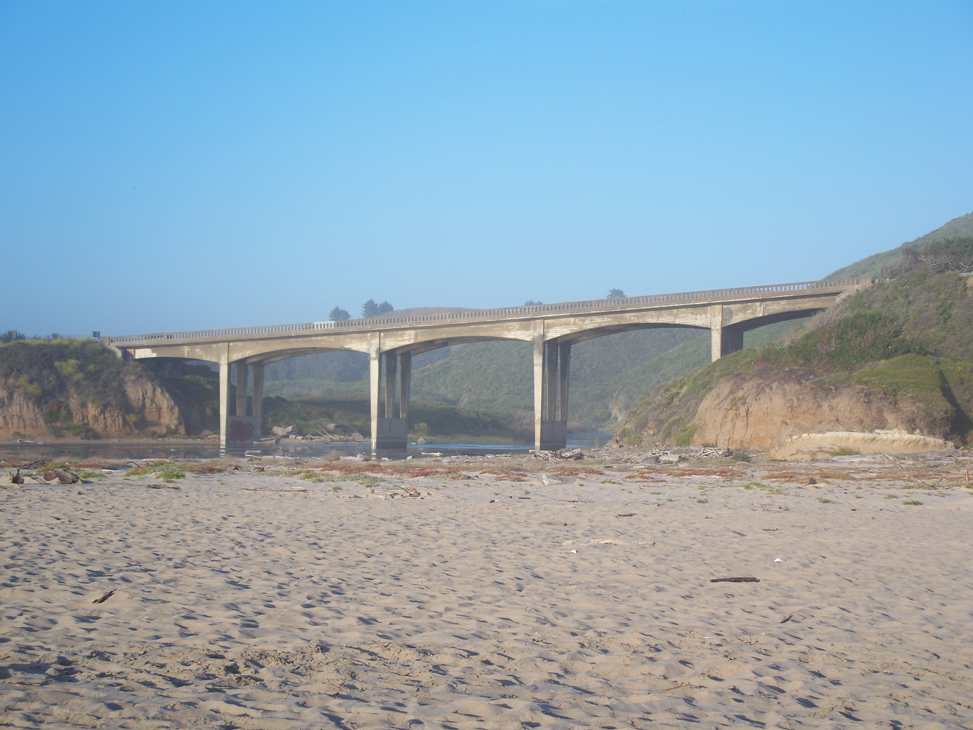 File Usa San Gregorio State Beach Route 1 Bridge Jpg