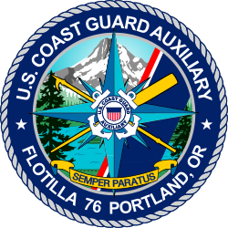 U.S. Coast Guard Auxiliary Flotilla 76 Portland, Oregon, Unit Emblem