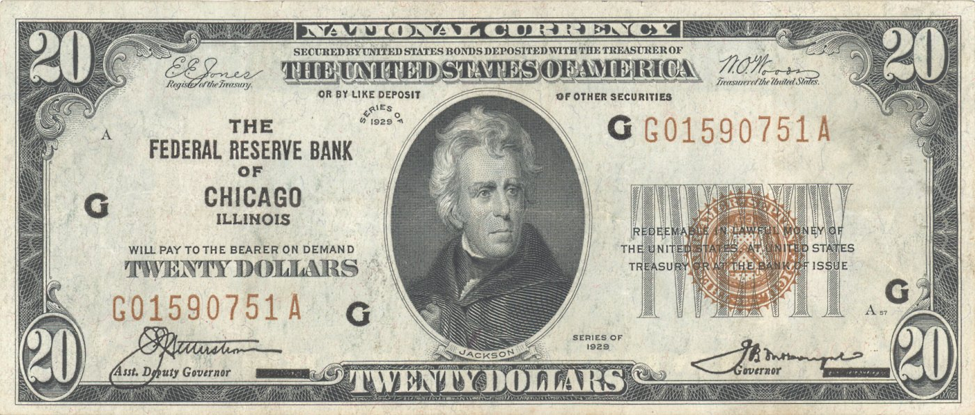 File Us 20 1929 Federal Reserve Bank Note Jpg