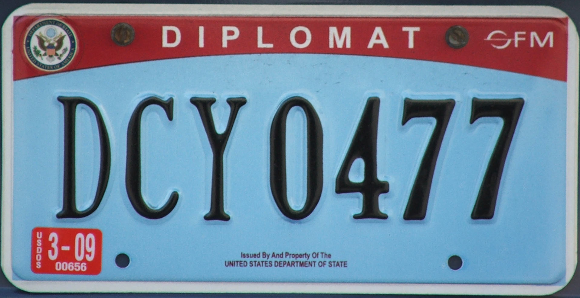 f1096fa7f2c Diplomatic vehicle registration plate - Wikipedia