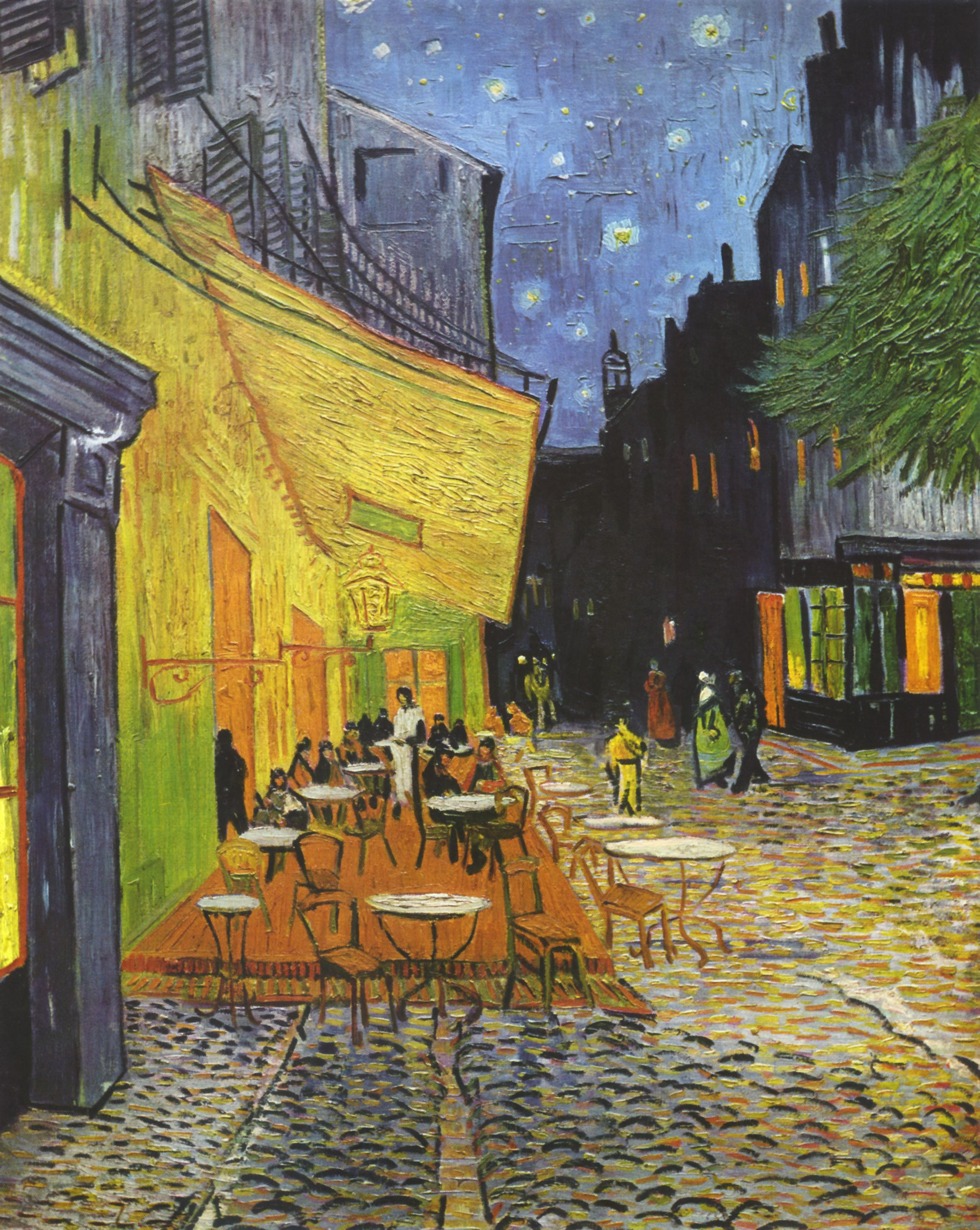 Terrasse du café le soir   wikiwand