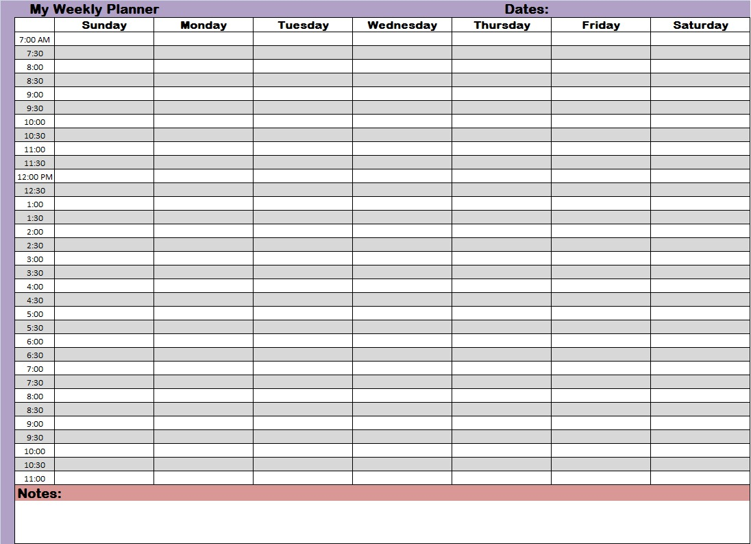 Description Weekly planners printable plannersjpg ZuB8Uk99