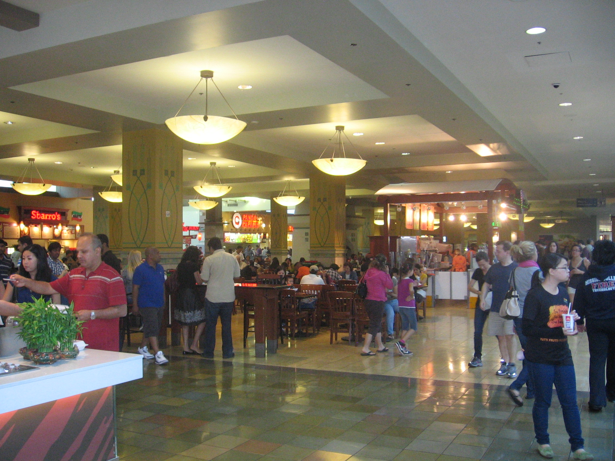 Food Court In The Galleria Mall