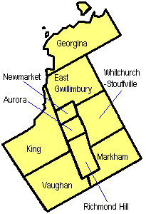 Map Of York Region Regional Municipality of York   Wikipedia Map Of York Region