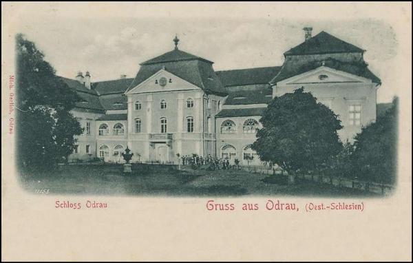 Výsledek obrázku pro Barokní stavbu – zámek v Odrách