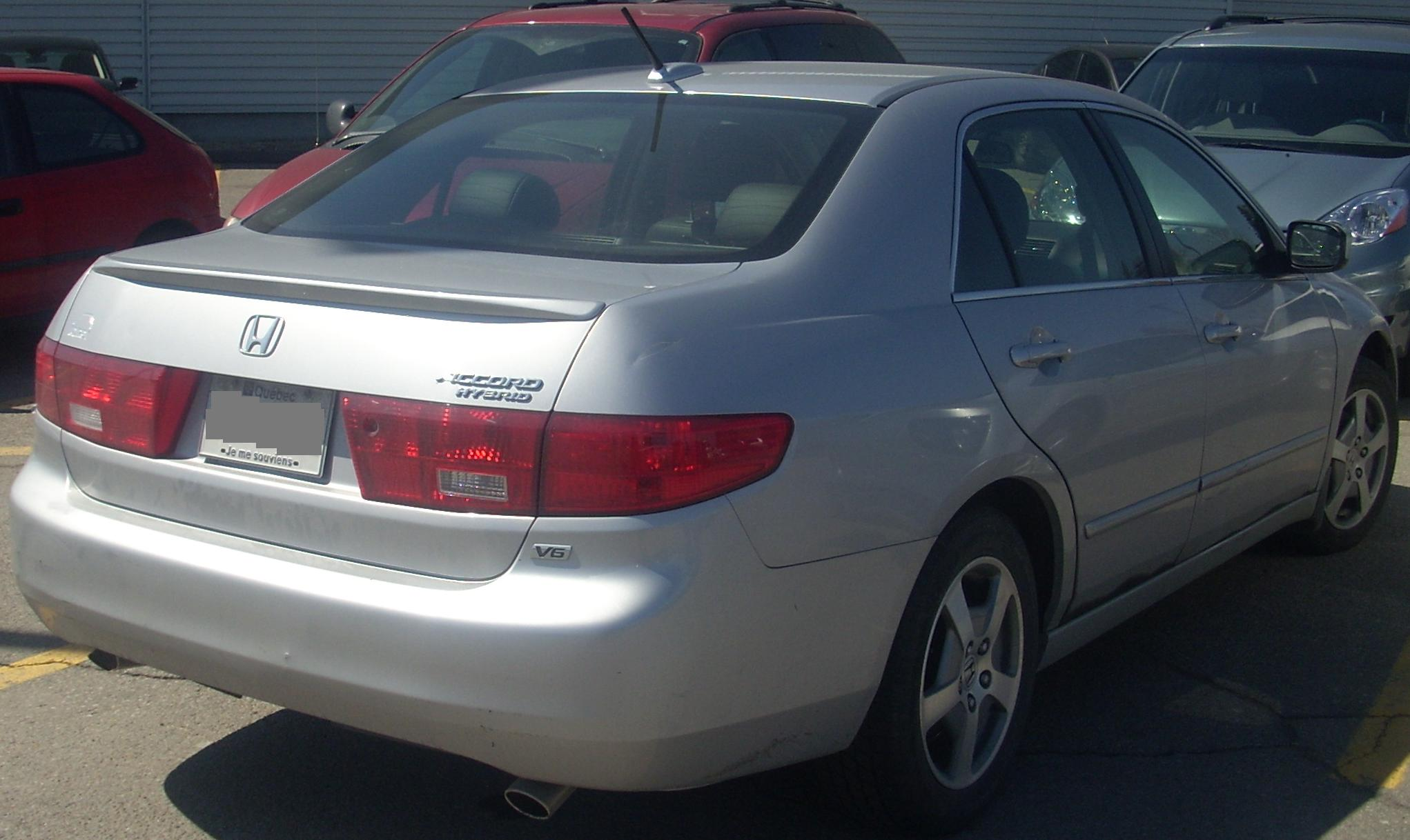 File 05 Honda Accord Hybrid Rear