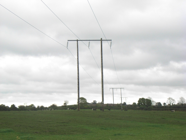 File:110kV Power Lines at Dollardstown, Co. Meath - geograph.org.uk - 601313.jpg