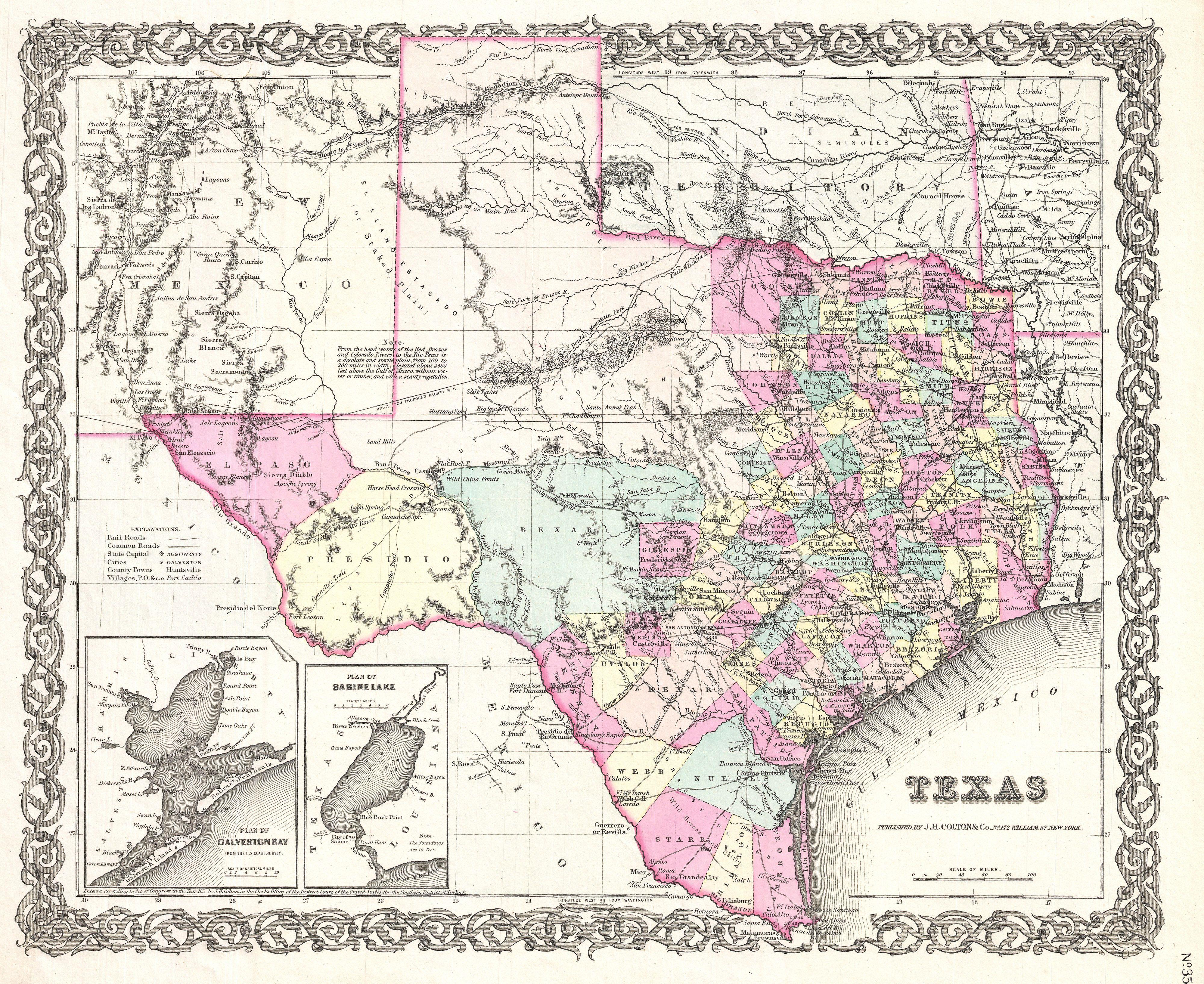 File:1855 Colton Map of Texas - Geographicus - Texas-colton-1855.jpg ...