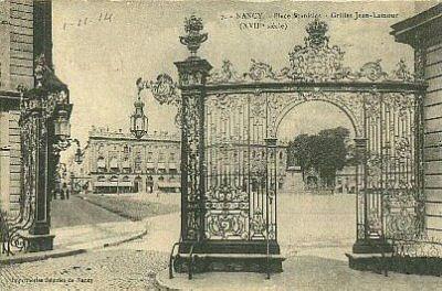 LA ville où il fait bon vivre !! 54-Nancy-Place_Stanislas-Grilles_Jean_Lamour-1914