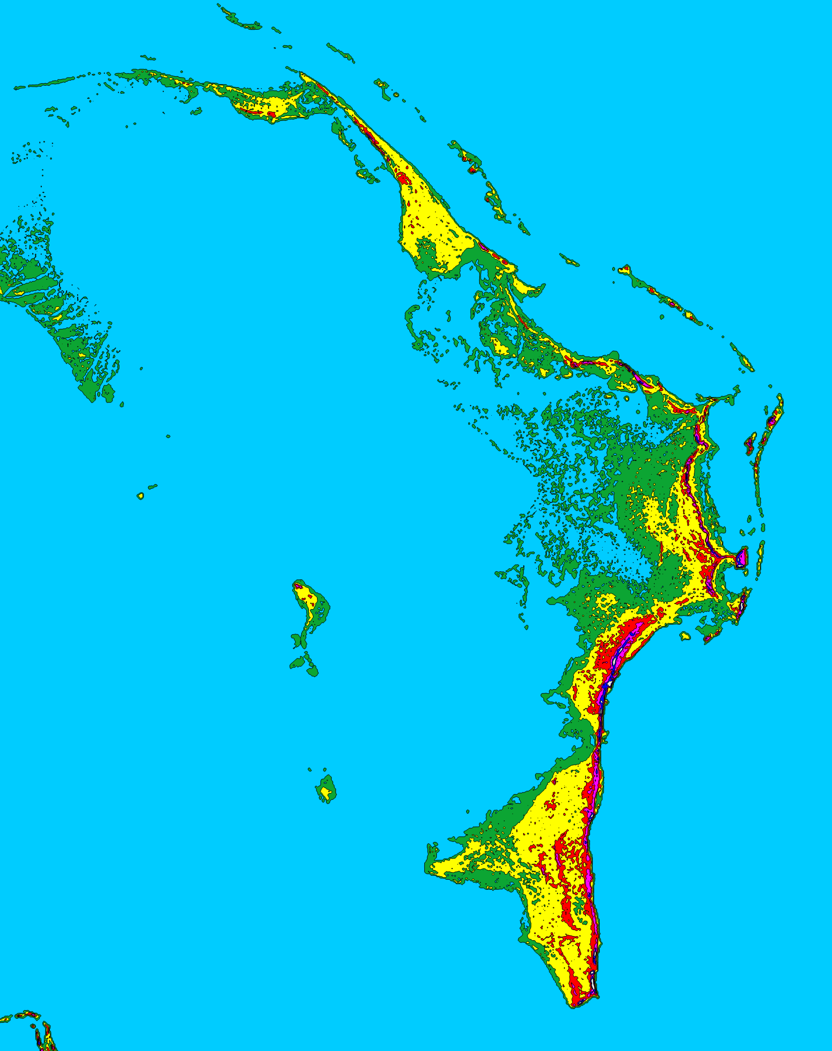 Bahamas Elevation Map.File Abaco Islands 15ft 4p572 Shaded Png Wikimedia Commons