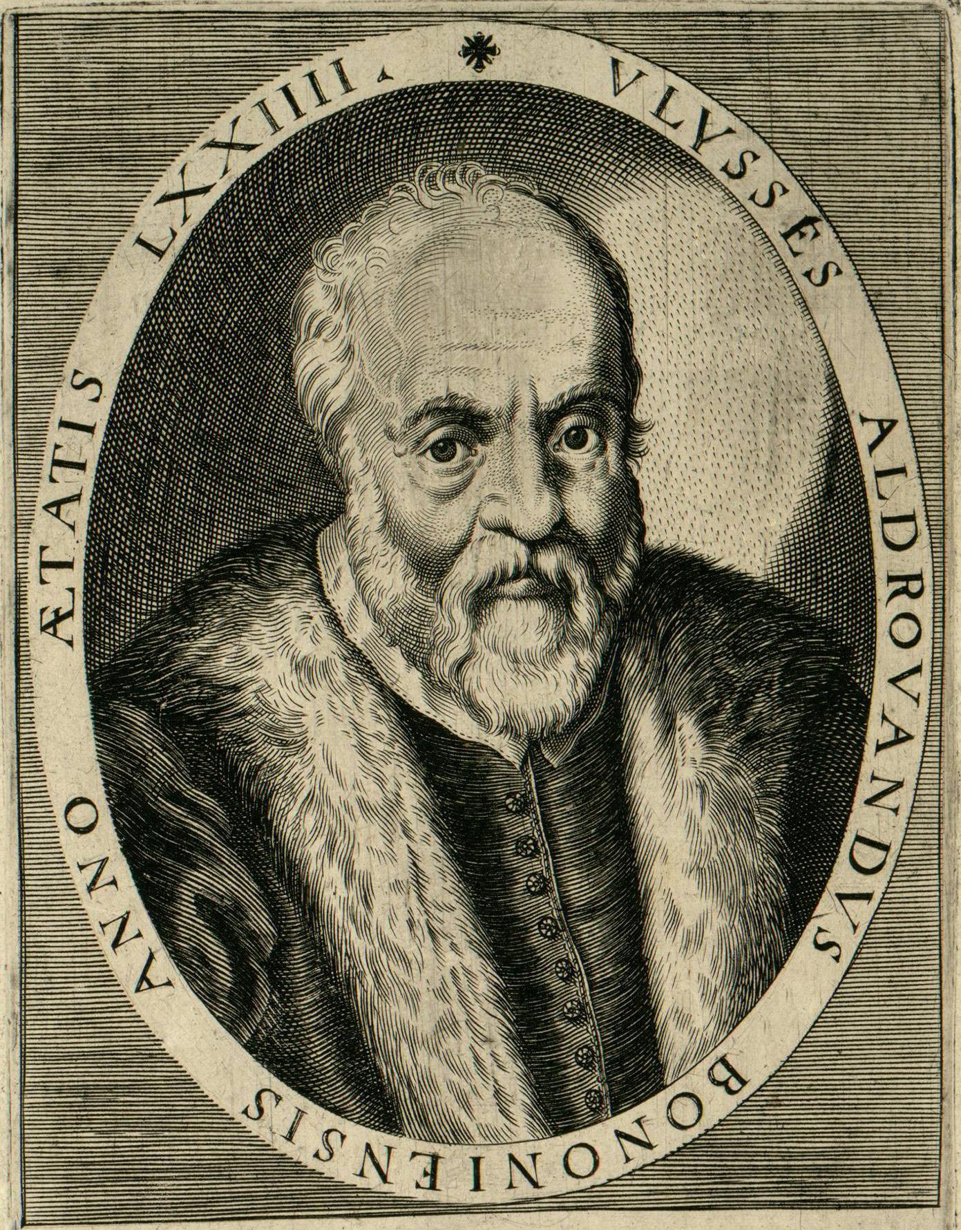 Depiction of Ulisse Aldrovandi