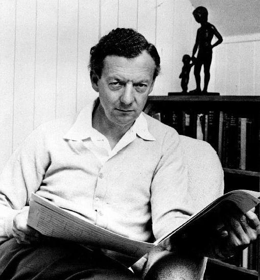 Benjamin Britten at Aldeburgh, 1968, photographer Hans Wild